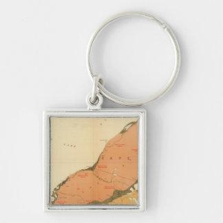 Province of Nova Scotia Island of Cape Breton 9 Silver-Colored Square Key Ring