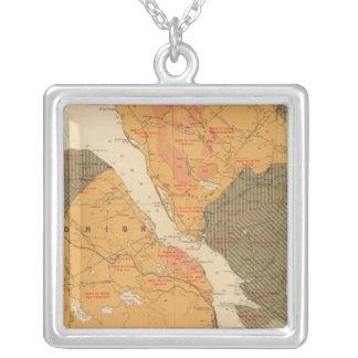 Province of Nova Scotia Island of Cape Breton Silver Plated Necklace