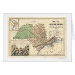 Province of Sao Paulo Brazil Map 1886 Greeting Card