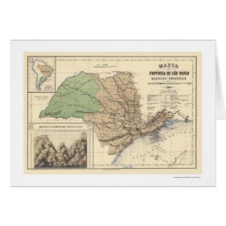 Province of Sao Paulo Brazil Map 1886 Card