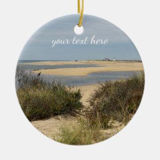 Provincetown Beach on Cape Cod Christmas Ornament