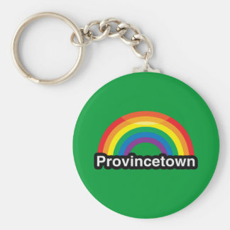 PROVINCETOWN LGBT PRIDE RAINBOW KEYCHAINS