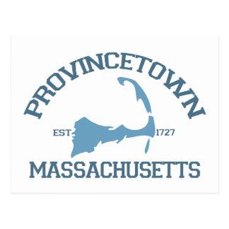 "Provincetown ""Varsity"" Design. Postcard"