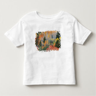 Provo River and aspen trees 11 Toddler T-Shirt