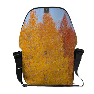 Provo River and aspen trees 13 Courier Bag