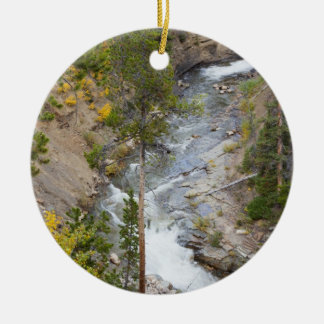 Provo River and aspen trees 14 Christmas Ornament