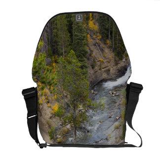 Provo River and aspen trees 14 Messenger Bag