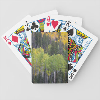 Provo River and aspen trees 2 Bicycle Playing Cards