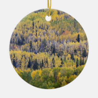 Provo River and aspen trees 3 Christmas Ornament