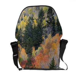 Provo River and aspen trees 4 Messenger Bag