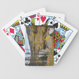 Provo River and aspen trees 5 Bicycle Playing Cards