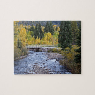 Provo River and aspen trees 8 Jigsaw Puzzle