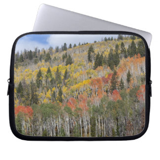 Provo River and aspen trees Laptop Sleeve