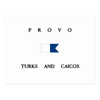 Provo Turks and Caicos Alpha Dive Flag Post Card