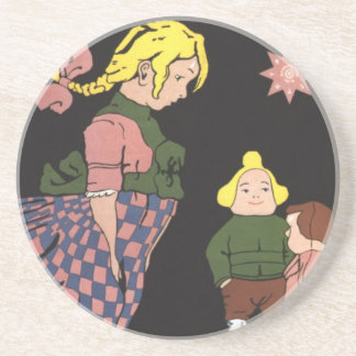 Provodnik Rubber Toys Russian Vintage Advertising Drink Coasters