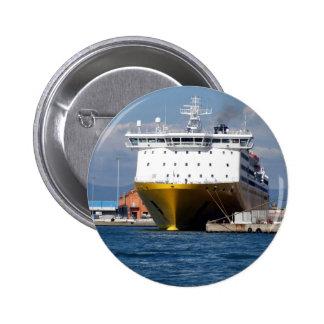 Prow view italian ferry 6 cm round badge