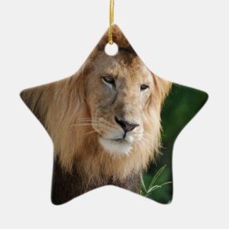 Prowling Lion Christmas Ornament