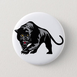 Prowling Panther 6 Cm Round Badge