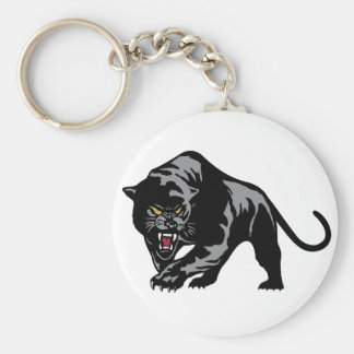 Prowling Panther Basic Round Button Key Ring
