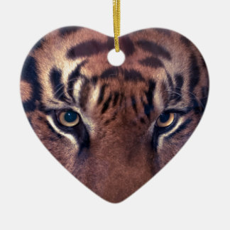 Prowling Tiger Ceramic Heart Decoration