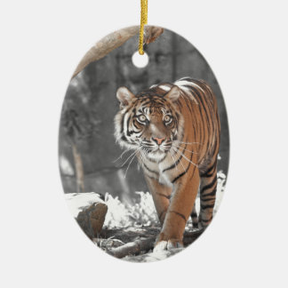 Prowling Tiger Christmas Ornament