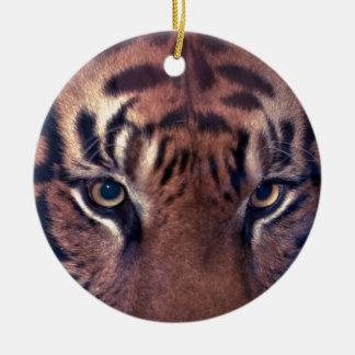 Prowling Tiger Round Ceramic Decoration