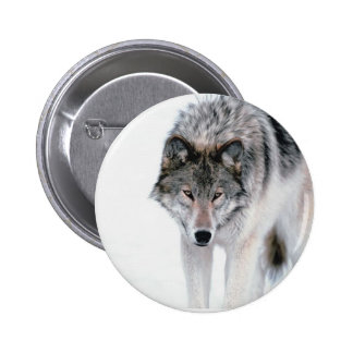 Prowling Wolf 6 Cm Round Badge