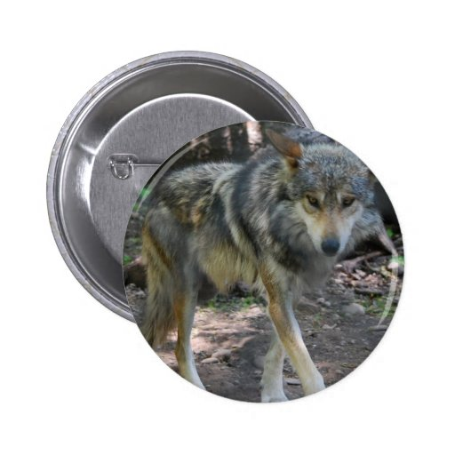Prowling Wolf Button