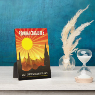 Proxima Centauri b Exoplanet Travel Illustration Plaque