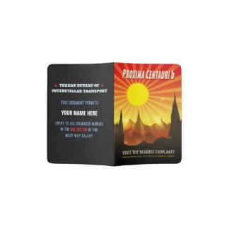 Proxima Centauri b Retro Exoplanet Illustration Passport Holder