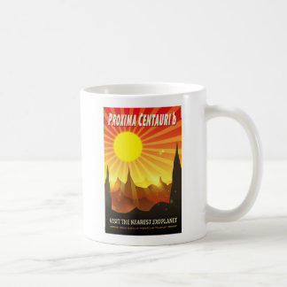 Proxima Centauri b Sci-Fi Exoplanet Illustration Coffee Mug