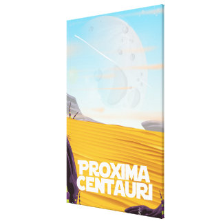 Proxima Centauri science fiction travel poster Canvas Print