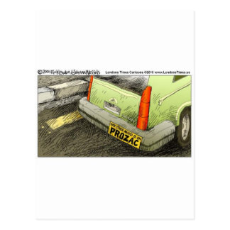 Prozac Bumper Sticker Funny Tees Cards & Gifts Postcard