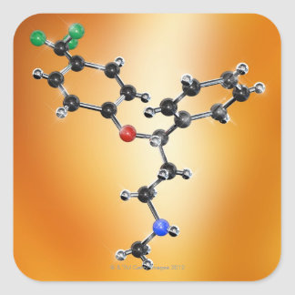 Prozac. Molecular model of the antidepressant Sticker