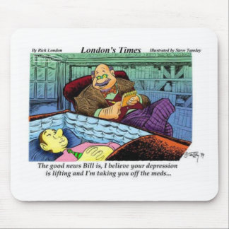 Prozac Time Over Funny Gifts & Collectibles Mouse Mat