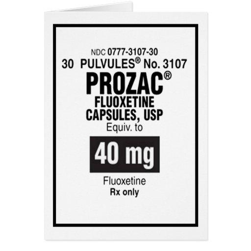 Prozac Valentine's Day Card