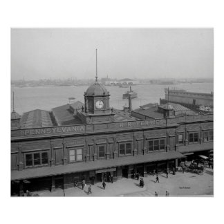 PRR Ferry Terminal Phila. Pa. Poster