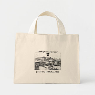 PRR Jersey City NJ Station 1893 Mini Tote Bag