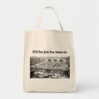 PRR New York Penn Station 1913 Grocery Tote Bag