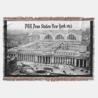 PRR New York Penn Station 1913 Throw Blanket