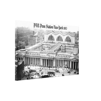 PRR New York Penn Station 1913 Wrapped Canvas Stretched Canvas Print