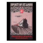 PRR Train Spirit of St. Louis Postcard