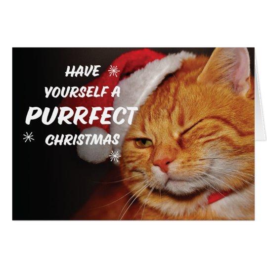 Prrrrfect Christmas Card