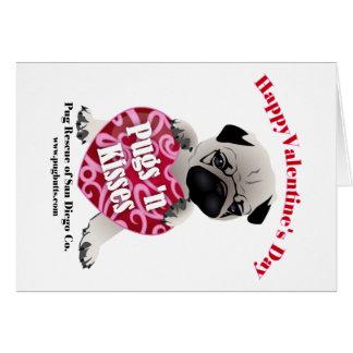 PRSDC Valentine Pug - Fawn - For Pugs N Kisses Greeting Card