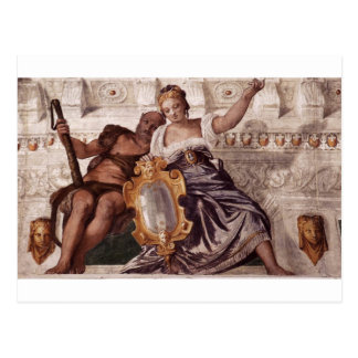 Prudence and Manly Virtue by Paolo Veronese Postcard