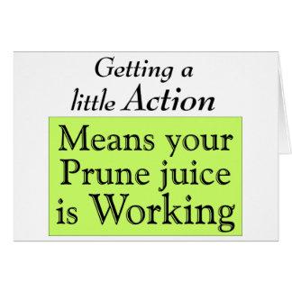 Prune juice greeting card