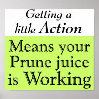 Prune juice poster