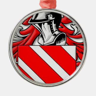 Prunier Coat of Arms Silver-Colored Round Decoration