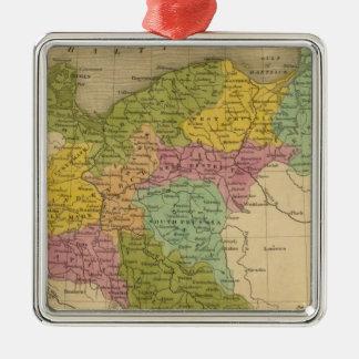 Prussia 4 Silver-Colored square decoration