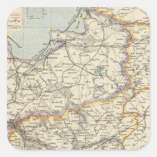 Prussia and Poland 2 Square Sticker
